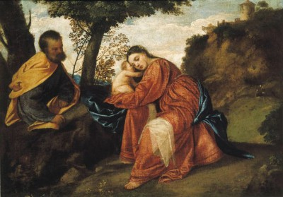 Rest on the Flight into Egypt - Tycjan