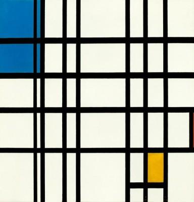 Rhythmus der geraden Linien - Piet Mondrian
