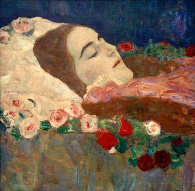 RIA MUNK AUF DEM TOTENBETT GEMÄLDE VON GUSTAV KLIMT - Gustav Klimt