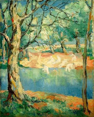 River in a forest - Kazimierz Malewicz