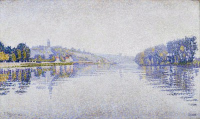 Riverbanks. The Seine at Herblay, Val-d'Oise - Paul Signac
