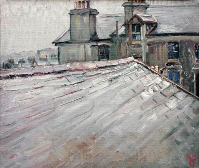 Rooftops in Douglas, Isle of Man - Kurt Schwitters