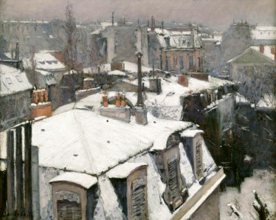 Rooftops in the snow - Gustave Caillebotte