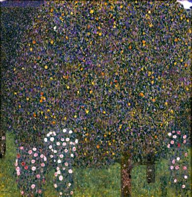 ROSENSTRÄUCHE UNTER BÄUMEN - Gustav Klimt