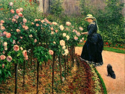 Roses in garden in Petit Gennevilliers - Gustave Caillebotte