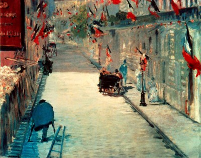 Rue Mosnier on 30 June 1878 - Édouard Manet