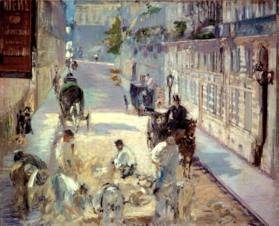 Rue Mosnier with Paviours - Édouard Manet