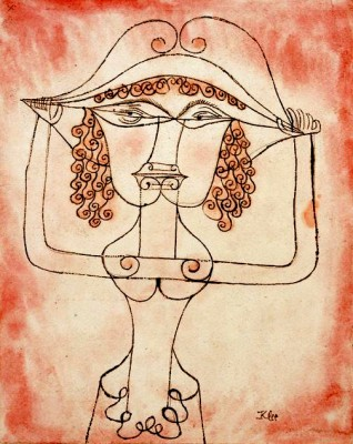 Sängerin der komischen Oper - Paul Klee