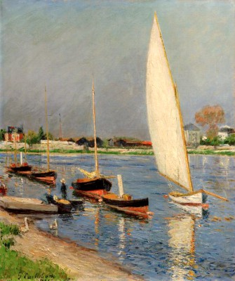 Sailboats on the Seine in Argenteuil - Gustave Caillebotte