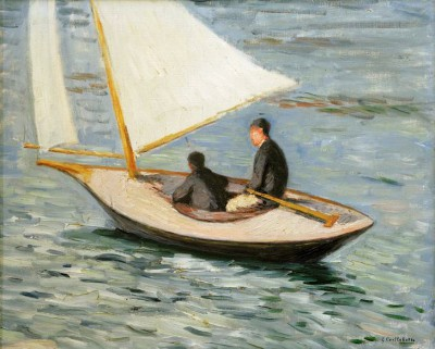 Sailing Boat on the Seine - Gustave Caillebotte
