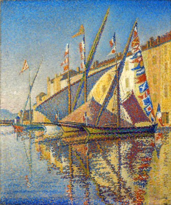 Sailing boats at the port of Saint Tropez - Paul Signac