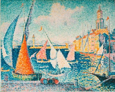 Sailing boats in the harbour of Saint Tropez - Paul Signac