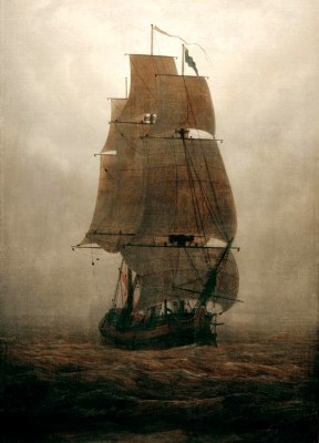 Sailing ship in the fog - Caspar David Friedrich