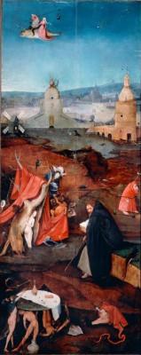 SAINT ANTOINE EN CONTEMPLATION - Hieronim Bosch