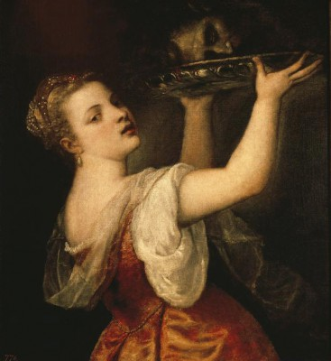 Salome with raised Platter - Tycjan