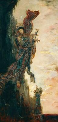 Sappho falling - Gustave Moreau