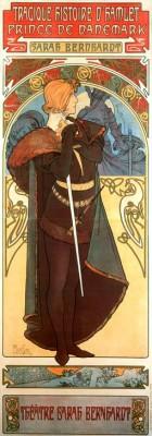 Sarah Bernhardt - Hamlet - Alfons Mucha