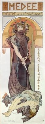 Sarah Bernhardt - Medea (2) - Alfons Mucha