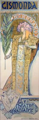 Sarah Bernhardt als Gismonda (2) - Alfons Mucha