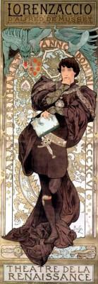 Sarah Bernhardt als Lorenzaccio - Alfons Mucha