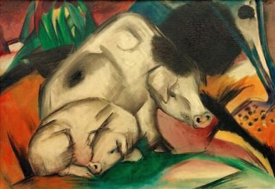 Schweine (Mutterschwein) - Franz Marc