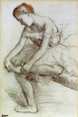 Seated Dancer - Edgar Degas