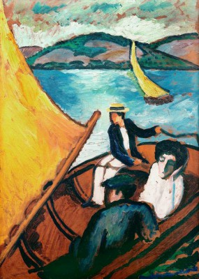 Segelboot, Tegernsee - August Macke