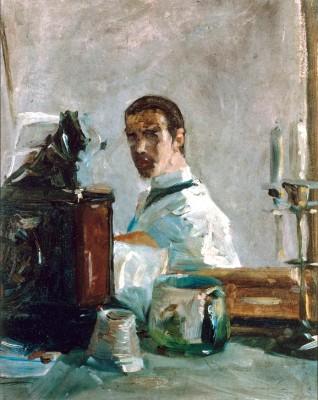 Selbstbildnis Künstlers im Spiegel - Henri de Toulouse-Lautrec