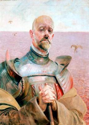 Self-portrait in Armour - Jacek Malczewski