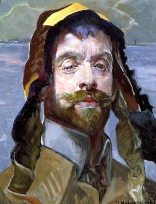 Self-portrait with Phrygian cap - Jacek Malczewski