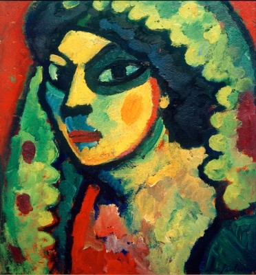 Sicilian with green shawl - Aleksiej Jawlensky