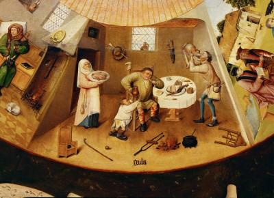 Siedem grzechów gł. i cztery rzeczy ostateczne - Gula - Hieronim Bosch