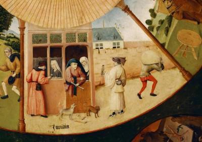 Siedem grzechów gł. i cztery rzeczy ostateczne - Invidia - Hieronim Bosch