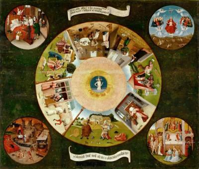 Siedem grzechów głównych i cztery rzeczy ostateczne - Hieronim Bosch