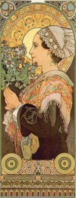Silberdistel (2) - Alfons Mucha