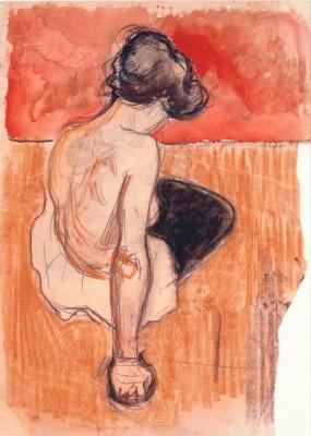 Sitting Model - Edvard Munch