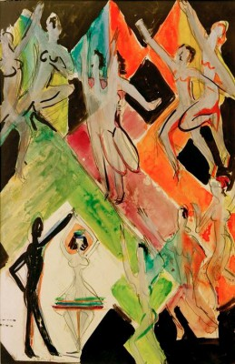 "Sketch for the ""Colour Dance"" - Ernst Ludwig Kirchner"