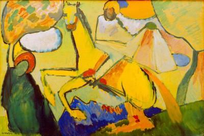 Skizze (Reiter) - Wassily Kandinsky