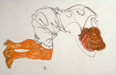 Sleeping Girl - Egon Schiele