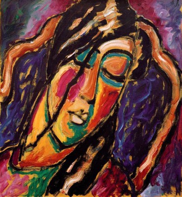 Sleeping woman - Aleksiej Jawlensky