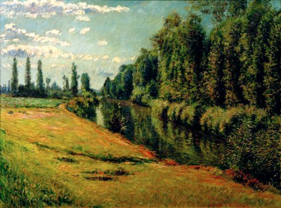 Small Tributary of the Seine near Argenteuil (2) - Gustave Caillebotte