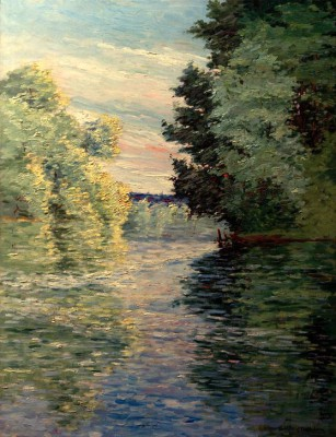 Small Tributary of the Seine near Argenteuil - Gustave Caillebotte