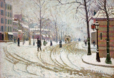 Snow – Boulevard de Clichy in Paris - Paul Signac