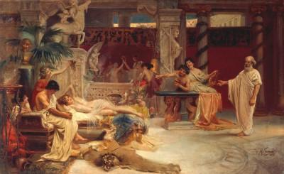Socrates finds Alcibiades among the Hetarians - Henryk Siemiradzki