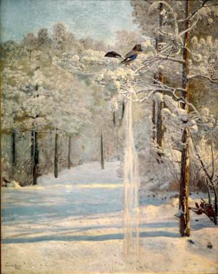 Sójka w lesie - Józef Chełmoński