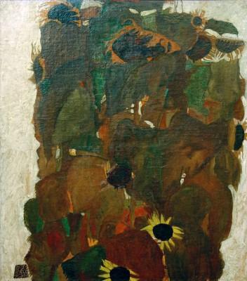 Sonnenblumen I - Egon Schiele