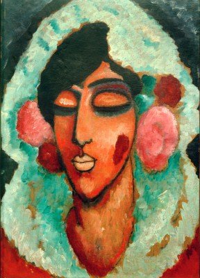 Spanish woman with closed eyes - Aleksiej Jawlensky