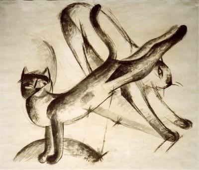 Spielende Katzen - Franz Marc