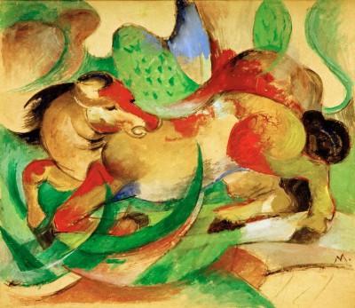 Springendes Pferd (2) - Franz Marc