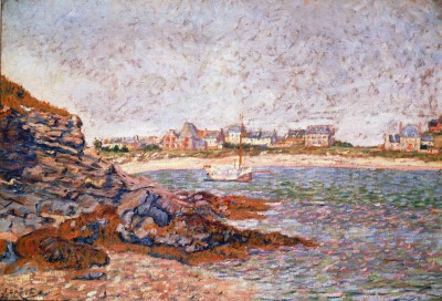 St. Briac, view of the port - Paul Signac